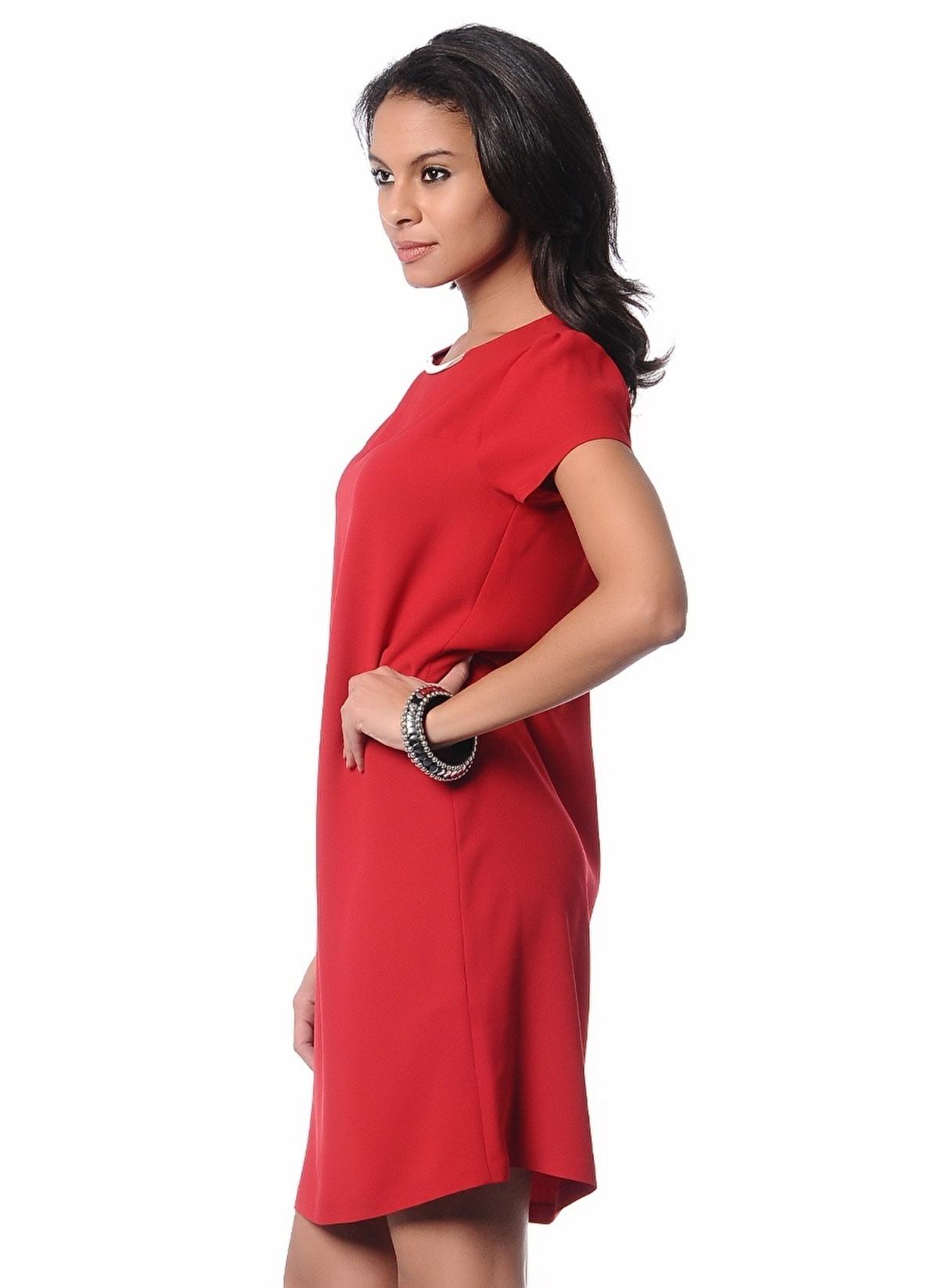 2bd87e09fd37b Limon Company Kadın Kısa Kollu Düz Elbise Kırmızı   Morhipo   4584859